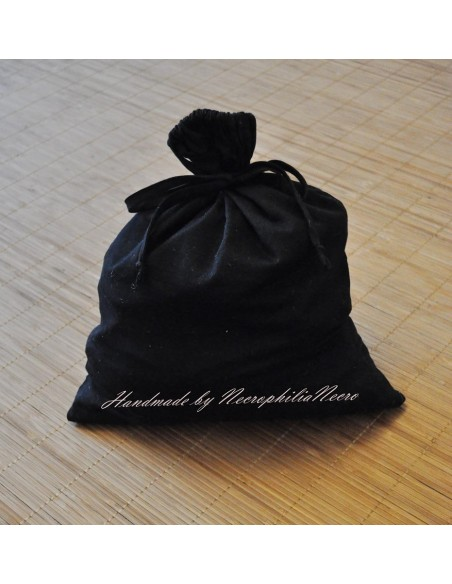 Simple black Ropebag 100% cotton